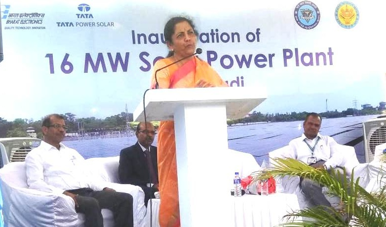 Raksha Mantri Inaugurates 16 MW Solar Power-Plant set up by BEL
