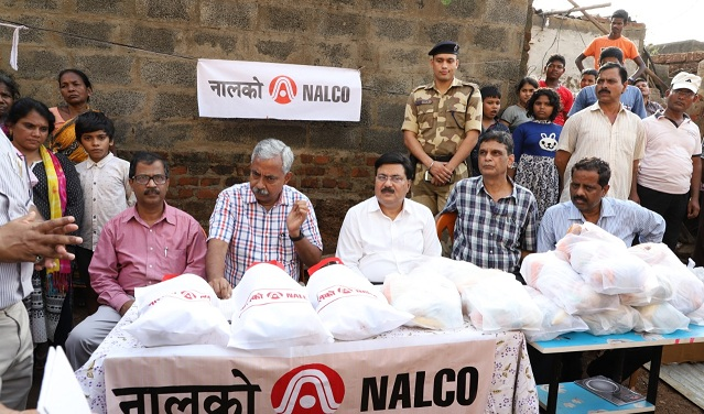 NALCO helping hand to Cyclone-hit people in Odisha