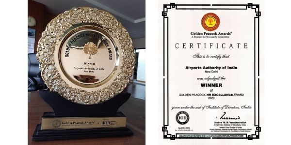 AAI was announced winner of the Golden Peacock HR Excellence Award-20