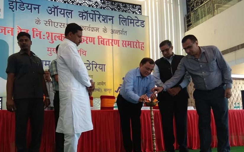 Indianoil Organised its first Distribution Camp Under CSR Initiative at Agara