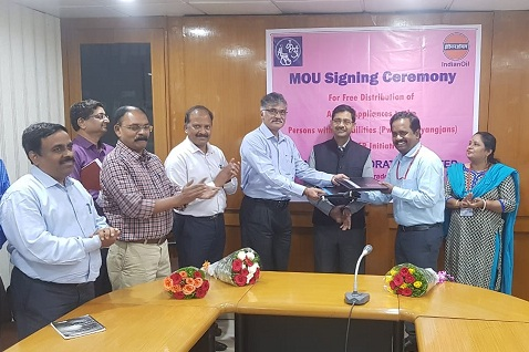 IOCL signed MoU with ALIMCO for Distribution of Aids and Assistive Devices to Divyangjans