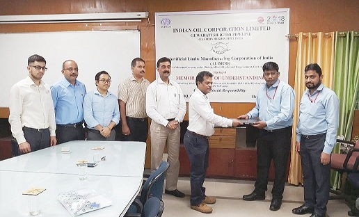 IOCL-GSPL signed MoU with ALIMCO for Distribution of Aids and Assistive Devices to Divyangjans