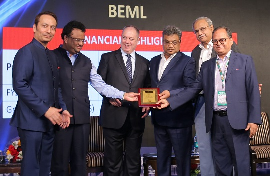 BEML Awarded with Top Challengers and Best Mining Equipment Seller Award