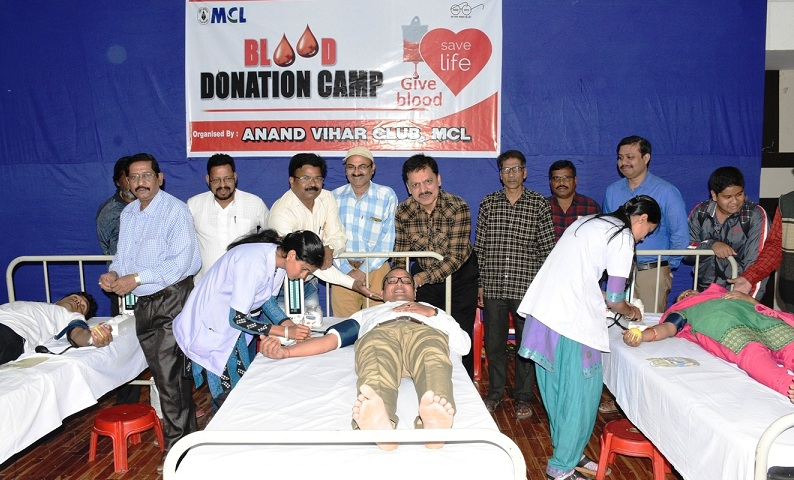 MCL Anand Vihar Club organized a  Blood Donation Camp