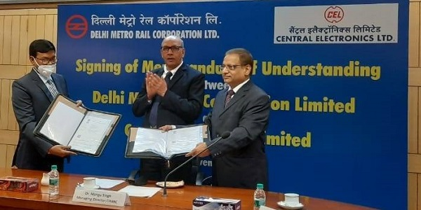 CEL and DMRC signed an MoU under the Make in India initiative