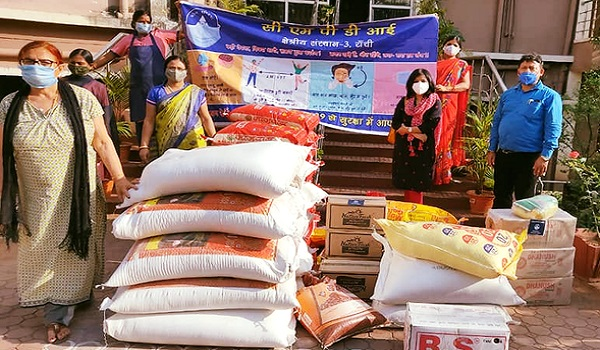 CMPDI extends a helping hand, gave over 1450 Kgs of dry ration