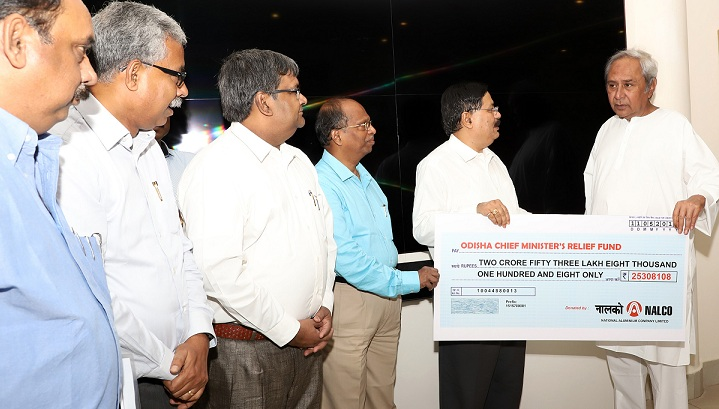 NALCO Employees Contributes One Day Salary to CM Relief Fund