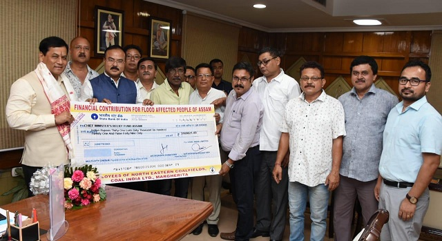 CIL Donates Rs. 31.60 Lakhs for Assam Flood Relief