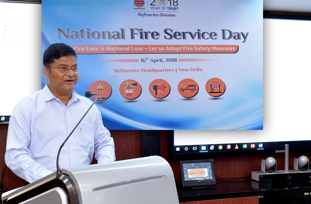 Employees of IndianOil Ovserved National Fire Service Day observed at HQ