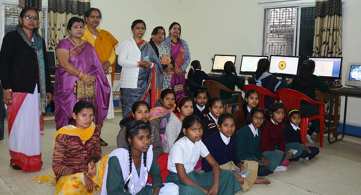NCL Provides 5 Computers for to Girl Students for Computer Education