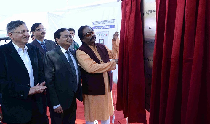 Inauguration of REIL Built Electronic Vehicle Charging Infrastructure at MNIT Jaipur