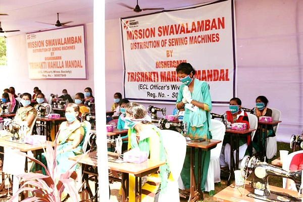 ECL gave fifty sewing machines to women from economically backward classes to become self reliant