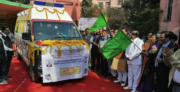 ECL flagged off two ALS Ambulances