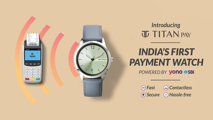 SBI and Titan partnered launched contactless payment watch