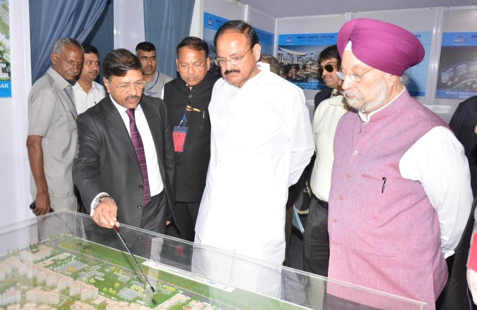 Vice President Lays Foundation Stone for WTC Redevelopment of Netaji Nagar