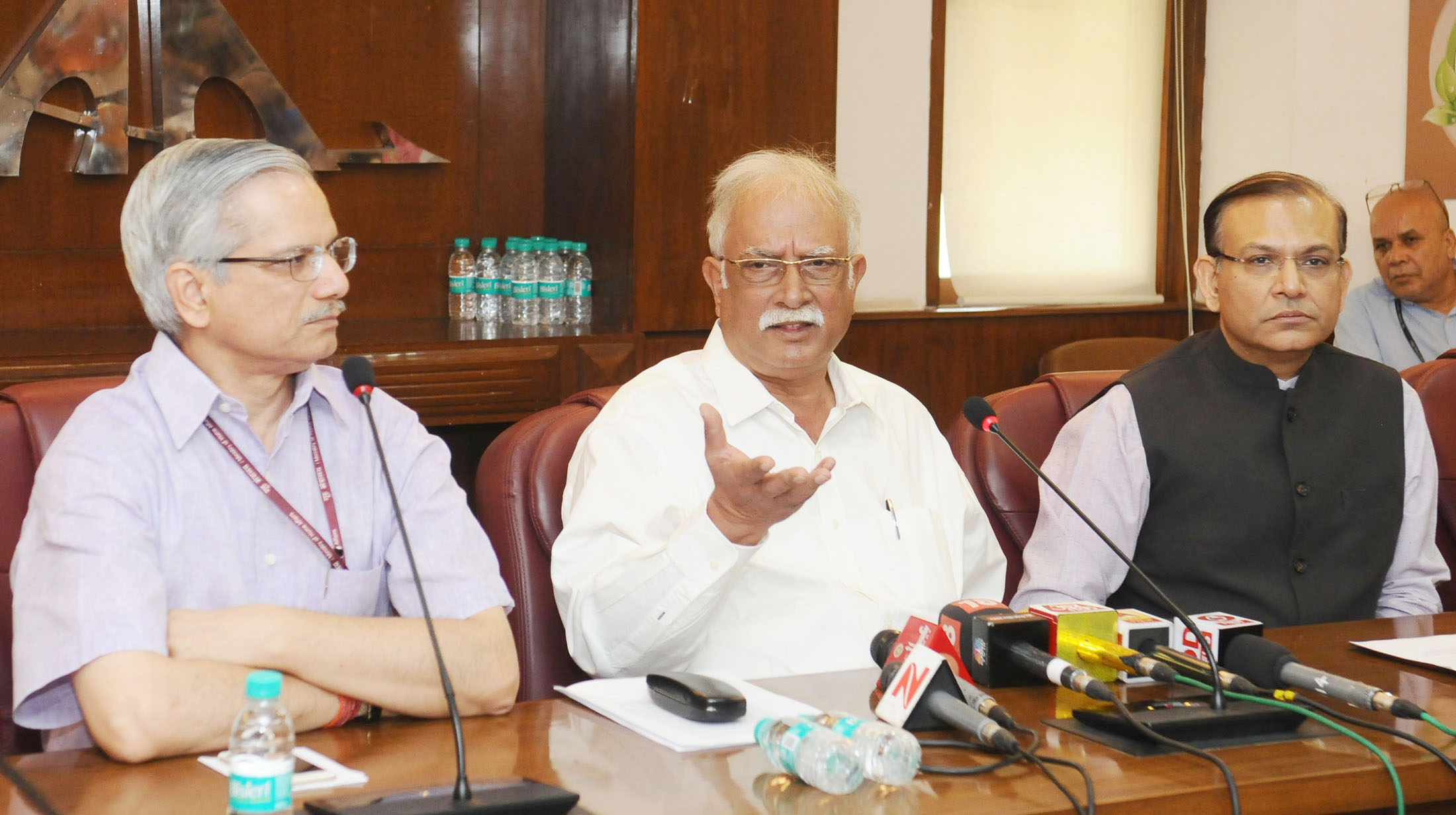 Gajapathi Raju Pusapati holding a Press Conference