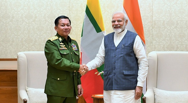 Senior General Min. Aung Hlaing Commander-in-Chief of Myanmar Defence Services Calls on PM
