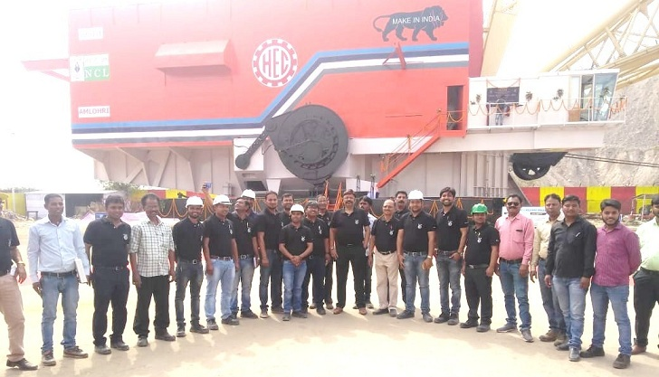 HEC Manufactured Walking Dragline AGNI Ingaurated at NCL