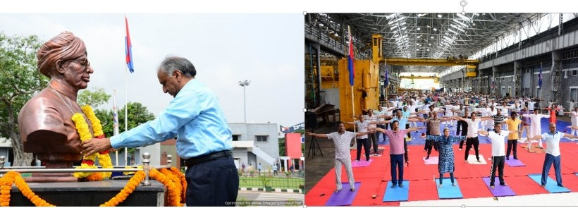HSL Celebrated International Yoga and 78th Foundation Day