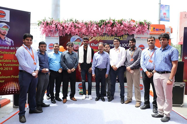 Team IndianOil Rajasthan felicitated their colleague and India's rising star Mr. Khaleel Ahmed