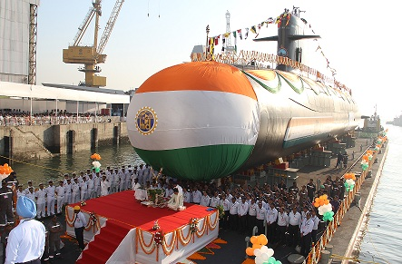 Launching Ceremony at Mazagon Dock Shipbuilders Limited