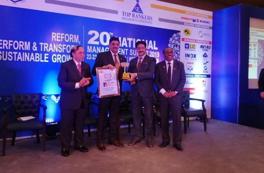 Executive Director POWERGRID Awarded with Top Rankers Excellence Award