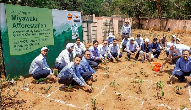IOCL CSR Intervention in developing Miyawaki Forest in Chennai City