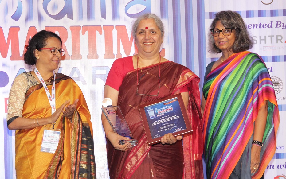 SCI Awarded with India Marit Award of Women Professional in Shipping and Logistics
