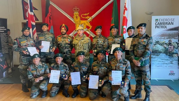 Indian Army Team awarded with a Gold medal in Exercise Cambrian Patrol at Brecon, Wales