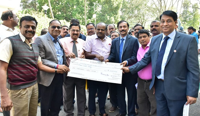 KIOCL Contribution in Karnataka Chief Minister Relief Fund