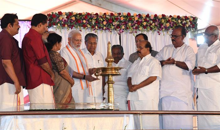 PM Dedicates Kollam Bypass on NH-66 to the nation during his visit to Kerala