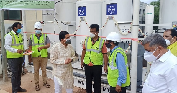 L&T set up and commissioned the production of 1000 liters of oxygen production plants