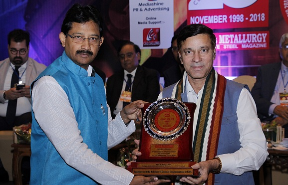 RINL-VSP awarded with Steelies India Award 2018 for Excellence in Media Relations