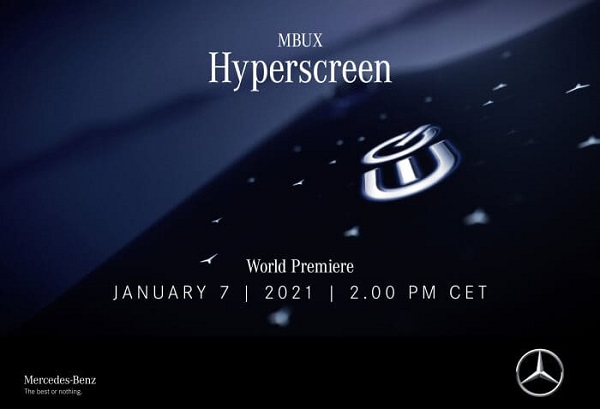 A New Chapter on New Year: World premiere of the MBUX Hyperscreen on January 7th on Mercedes