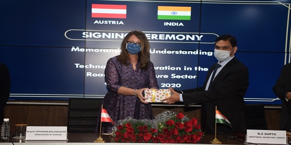 MoRTH and Austria signs MoU for Technology Cooperation in Road Infrastructure Sector