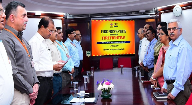 National Fire Service Day observed at IndianOil s Refineries HQ