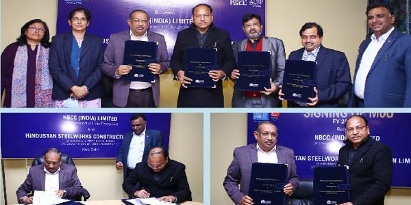 NBCC signed MoU with its subsidiary company HSCL