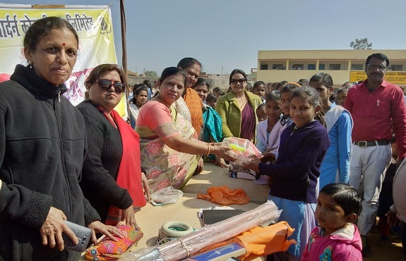 Kriti Mahila Mandal of NCL Distributed Sport Items in Government School