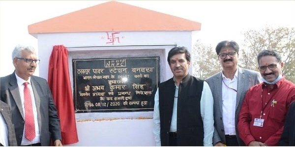CMD NHPC lays the foundation stone of head regulator works of Indo-Nepal Link Canal