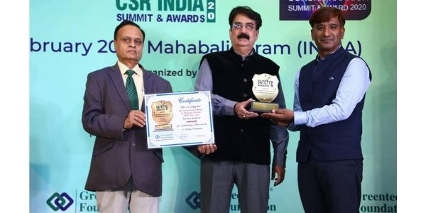 NTPC Lara honoured with the Greentech safety Award 2020