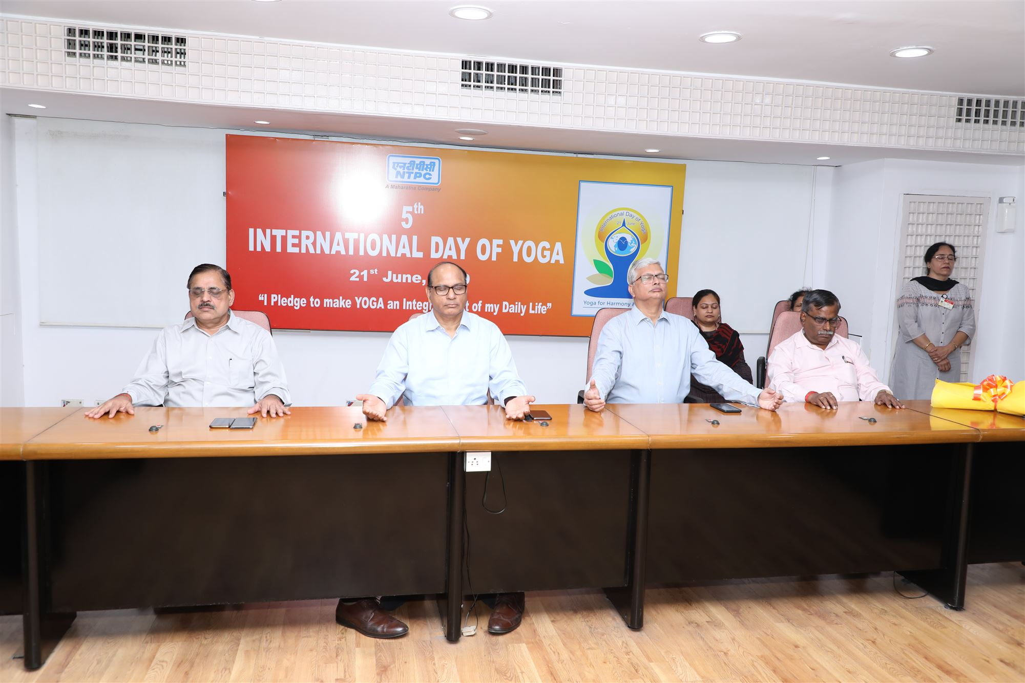 NTPC Celebrated International Yoga Day - 2019
