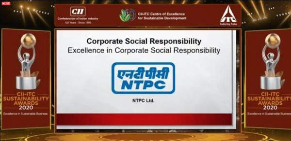 NTPC conferred with CII-ITC Award-Excellence in CSR