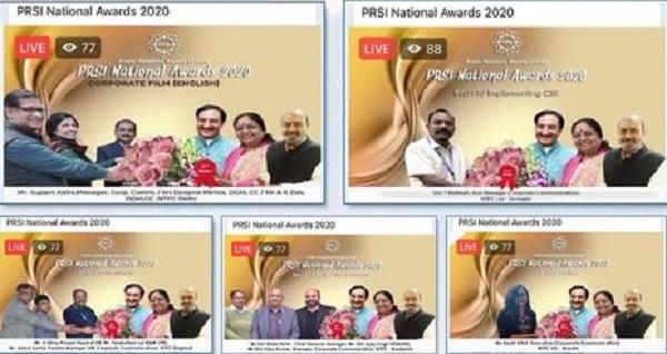 NTPC bagged four awards at PRSI National Awards 2020