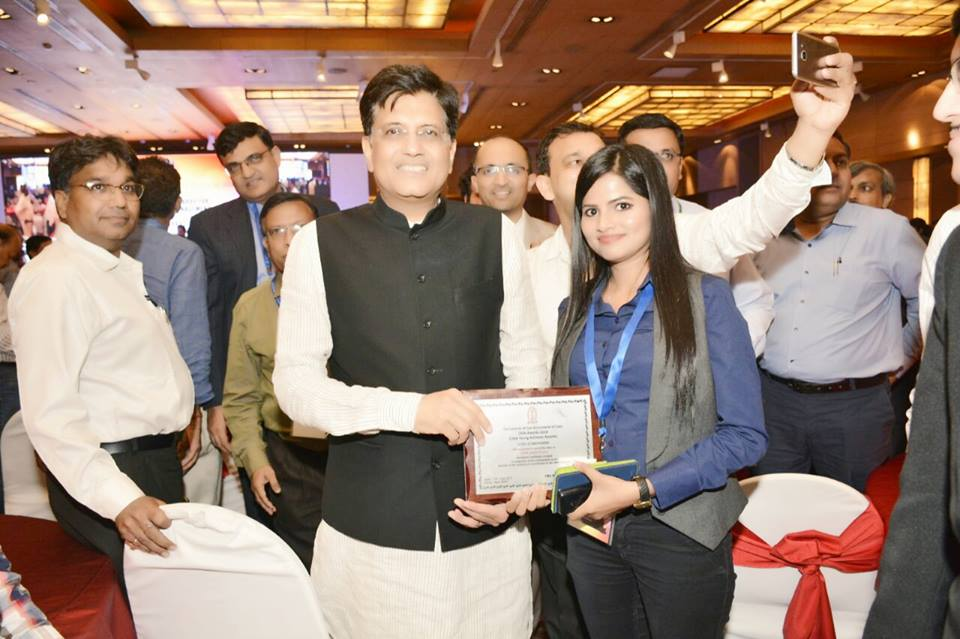 Nidhi Sinha of NCL bags CMA Young Achiever Award