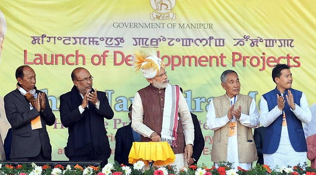 PM Dedicates 400 KV Double Circuit Silchar– Imphal Transmission Line to the Nation