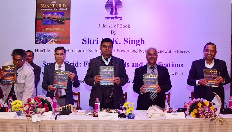 Shri R.K. Singh Minister for Power Released a Book on Smart Grid