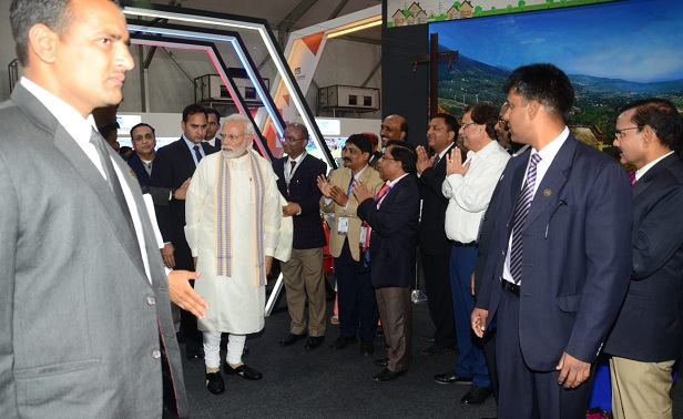 PM Visits Power Pavilion at Vibrant Gujarat Global Summit
