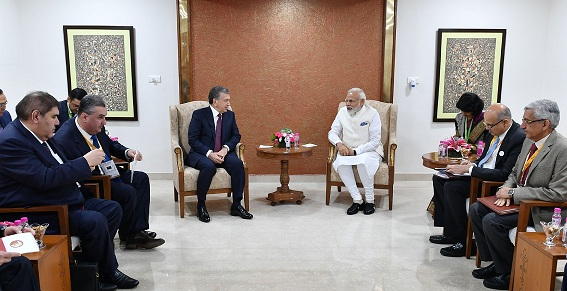 PM Meets President of Uzbekistan on sidelines of the Vibrant Gujarat Global Summit-2019