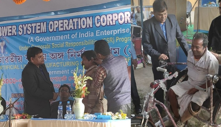 POSOCO Organised Aids Distribution Camp for Differently-Abled