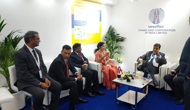 Power Minister Discussed with Powergrid Officials at WFES 2019